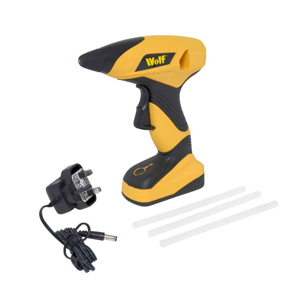 Wolf 7.2V Cordless Glue Gun with 80 Extra Glue Sticks