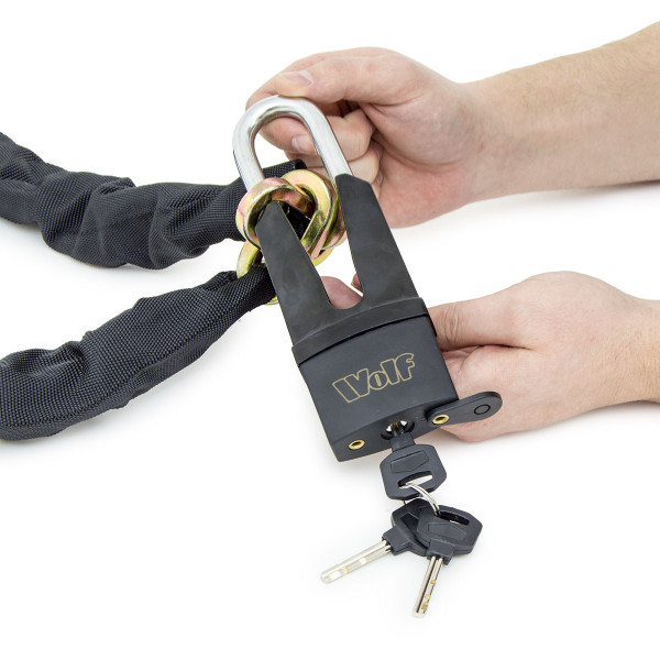 Wolf Heavy Duty 1.8m Security Chain and Padlock - Pack of 4