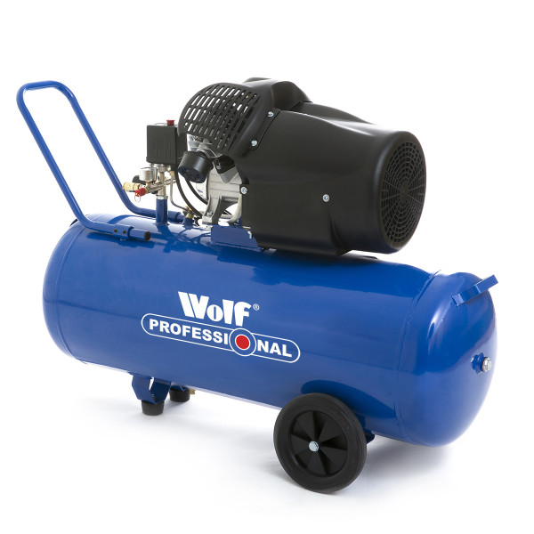 Wolf Professional Super Cheyenne 100L Air Compressor with 3pc Air Tool Kit & 13pc Spray Kit