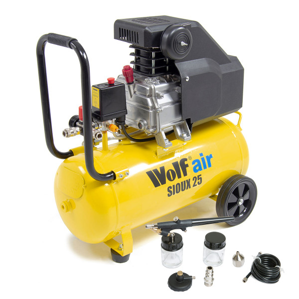 Wolf Sioux 25 Air Compressor with Airbrush Kit