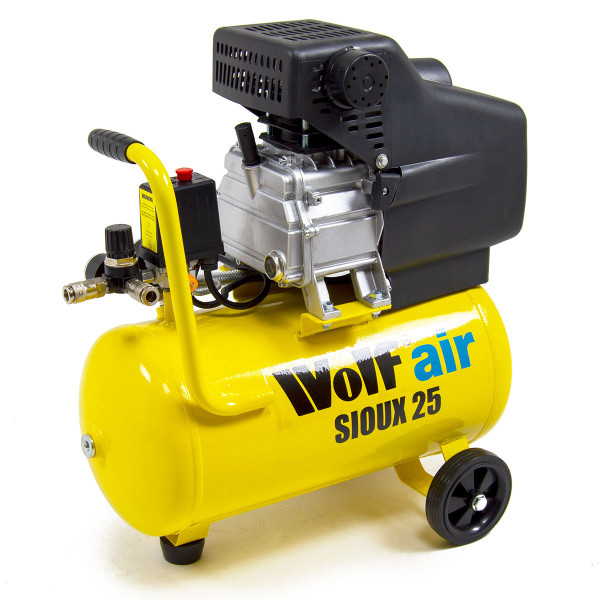 Wolf Sioux 25 Air Compressor with 5pc Spray Kit & Airbrush Kit