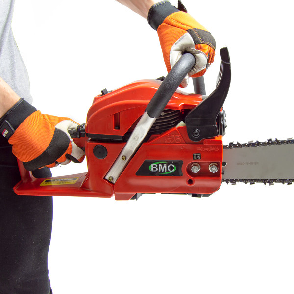 BMC 20'' Easy Start 55cc Chainsaw with 1 Litre Chain Oil & Storage / Carry Bag