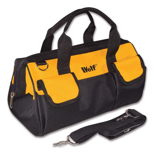 Wolf Pro 20v 8pc Power Tool Kit with 2 Batteries, Charger & Large Bag