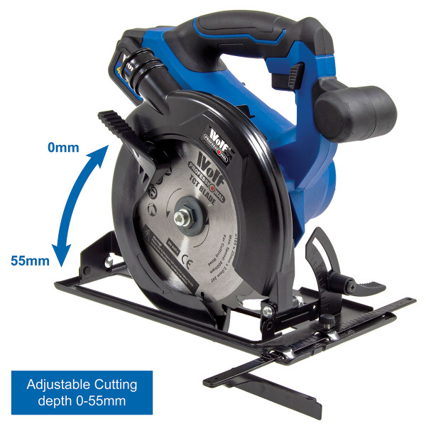 Wolf 20v Cordless 185mm Circular Saw with Brushless Motor