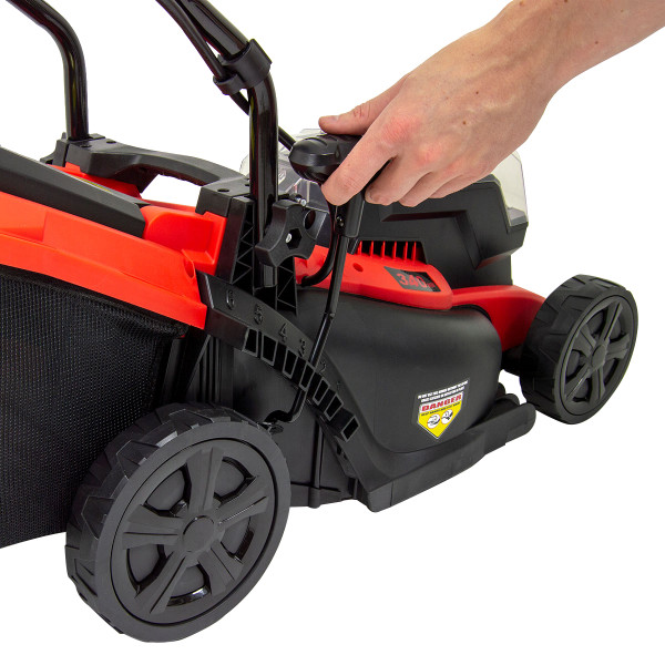 Fox 40V Cordless Lawn Mower 34cm with 2 Batteries and 2 Chargers