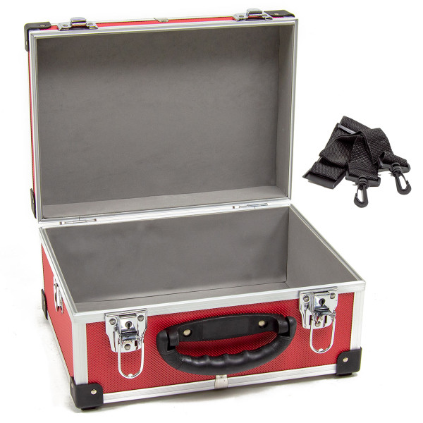 Wolf 320mm Red Aluminium Storage Case