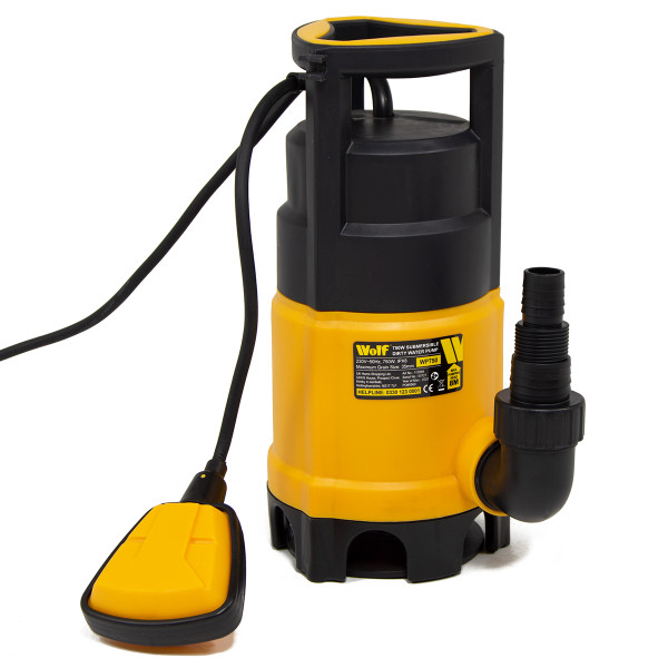 Wolf 750w Dirty & Clean Automatic Submersible Water Pump