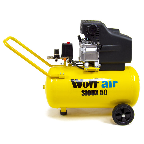 Wolf Sioux 50 Air Compressor with 20m Air Hose Reel