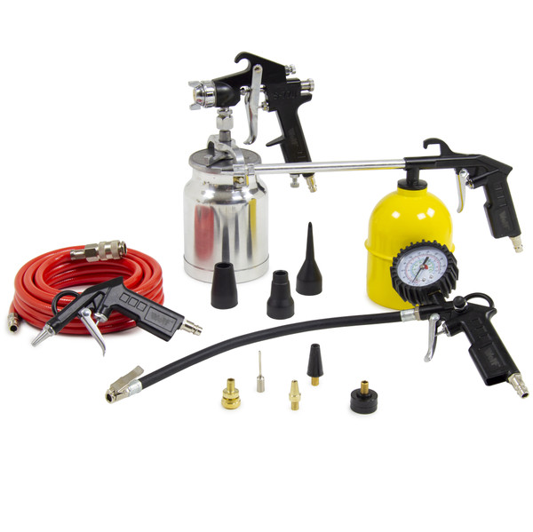 Wolf Sioux 50 Air Compressor with 13pc Spray Kit, Airbrush Kit & 20m Air Hose Reel