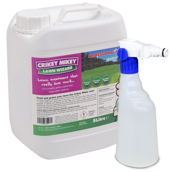 Crikey Mikey Lawn Wizard 5L with Sprayer