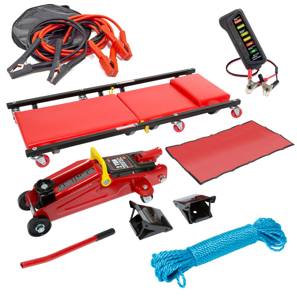 Wolf 2 Ton Trolley Jack & Car Creeper - Ultimate Vehicle Kit