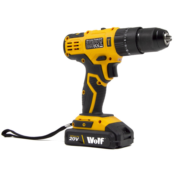 Wolf Cordless 20V Combi Impact Drill
