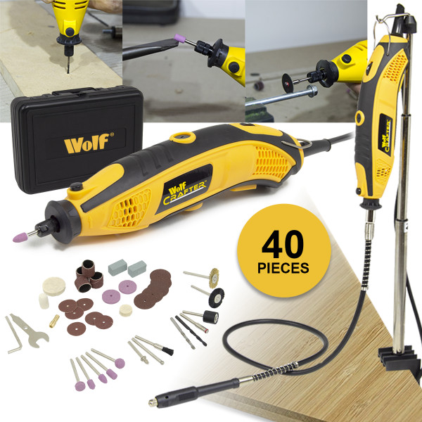 Wolf 170W Crafter Rotary Multi Tool & 40pc Accessories