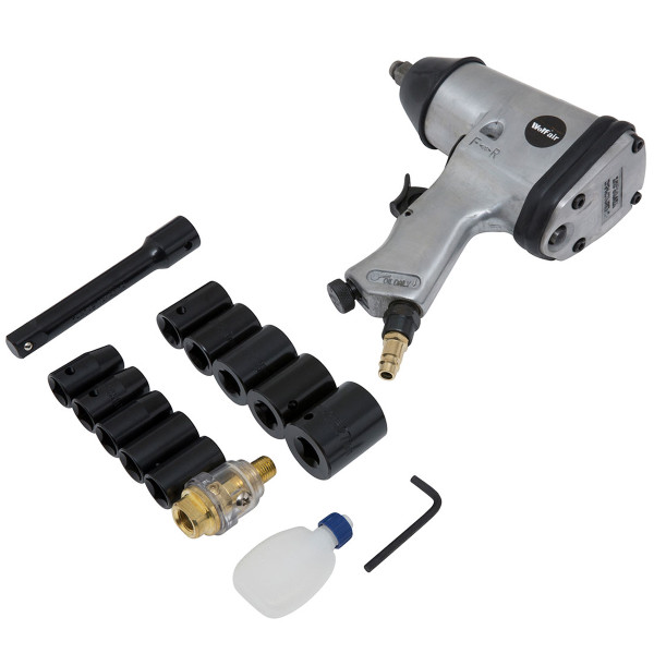 "Wolf 13pc 1/2"" Square Drive Air Impact Wrench Kit"