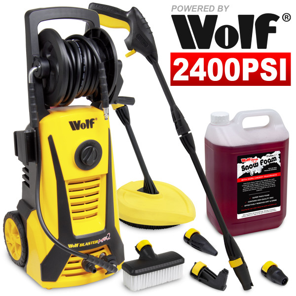Wolf Blaster Max 2 165BAR Pressure Washer & 5L Snow Foam