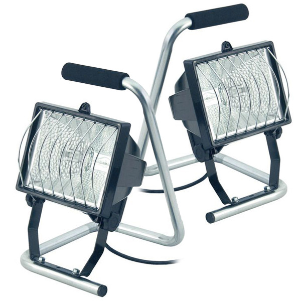 Set of 2 Brennenstuhl 400W Halogen Lights