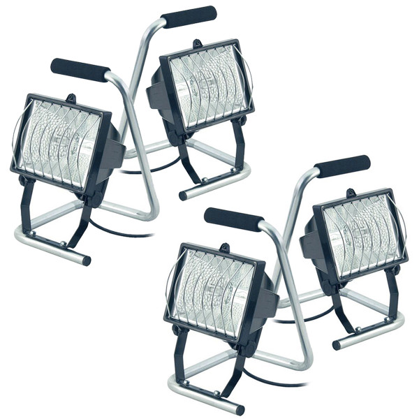 Set of 4 Brennenstuhl 400W Halogen Lights