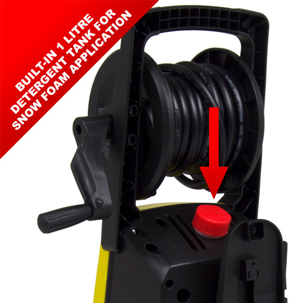 Wolf Blaster Max 2 Pressure Washer with 5m Drain Cleaner, 10m Ext. Hose, 5L Snow Foam & Applicator