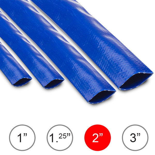 Wolf 2'' Layflat Water Delivery Hose - 3 Metres