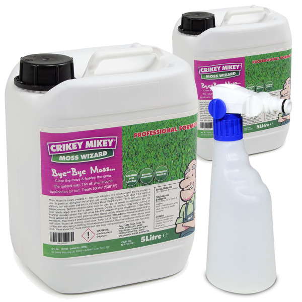 Crikey Mikey Moss Wizard 10 Litres with Sprayer